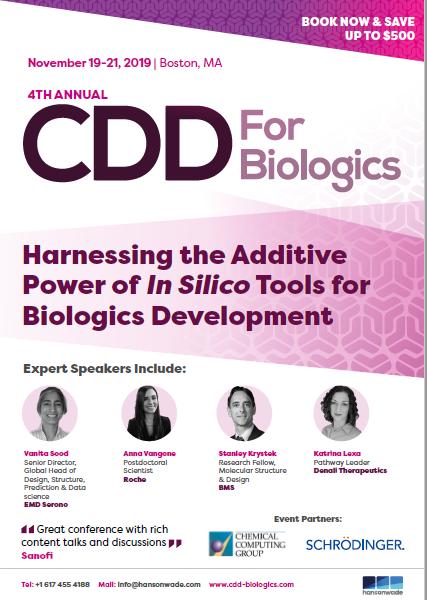 Computational Drug Development for Biologics - Brochure Front Cover